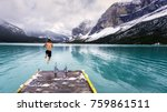 bold jump into the cold waters...   Shutterstock . vector #759861511