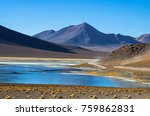 laguna verde is a salt lake at...   Shutterstock . vector #759862831