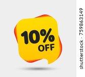 10  off sale discount banner.... | Shutterstock .eps vector #759863149