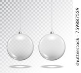 christmas glass toy balls on... | Shutterstock .eps vector #759887539