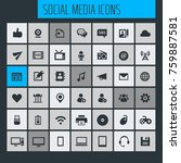 big social media icon set | Shutterstock .eps vector #759887581