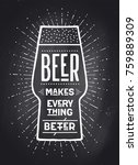 poster or banner with text beer ... | Shutterstock .eps vector #759889309