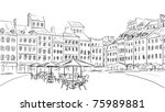 illustration  to the old town   ... | Shutterstock . vector #75989881