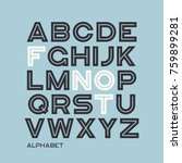 heavy sans serif typeface... | Shutterstock .eps vector #759899281