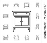 chest of drawers icon. set of... | Shutterstock .eps vector #759902647