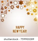 christmas background with... | Shutterstock .eps vector #759903289