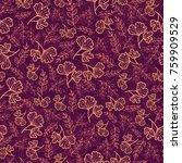 vector dark red seamless... | Shutterstock .eps vector #759909529