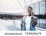 portrait of young smiling afro... | Shutterstock . vector #759909679