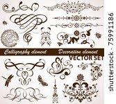 Collect Calligraphic And Flora...