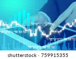business man digital stock... | Shutterstock . vector #759915355