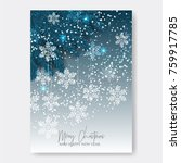 merry christmas invitation with ... | Shutterstock .eps vector #759917785