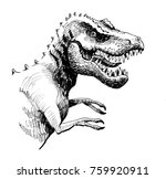 angry t rex | Shutterstock . vector #759920911