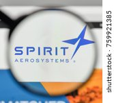 Small photo of Milan, Italy - November 1, 2017: Spirit Aero Systems Holdings logo on the website homepage.