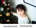 cute child  christmas image | Shutterstock . vector #759933781
