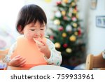 cute child  christmas image | Shutterstock . vector #759933961