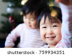 cute child  christmas image | Shutterstock . vector #759934351
