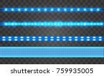set led realistic blue ribbon... | Shutterstock .eps vector #759935005