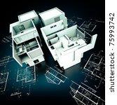 3d rendering of a modern... | Shutterstock . vector #75993742