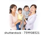 two mothers carrying  children... | Shutterstock . vector #759938521