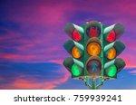 traffic light traffic light sky ...   Shutterstock . vector #759939241