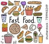 line hand drawn doodle vector... | Shutterstock .eps vector #759943249