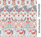 pattern nordic style with... | Shutterstock .eps vector #759944989