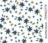 small flowers. seamless pattern ... | Shutterstock .eps vector #759962779