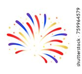 firework red  blue and yellow... | Shutterstock .eps vector #759964579