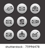 set of email icons graphics for ... | Shutterstock .eps vector #75996478