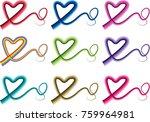 heart shape vector design set | Shutterstock .eps vector #759964981