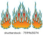 tribal hotrod muscle car flame... | Shutterstock .eps vector #759965074