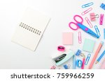 stationary concept  flat lay... | Shutterstock . vector #759966259