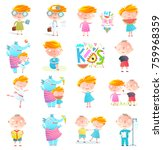 kids boys and girls collection... | Shutterstock .eps vector #759968359