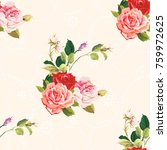 seamless floral pattern three... | Shutterstock .eps vector #759972625
