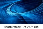 abstract blue and black... | Shutterstock . vector #759974185