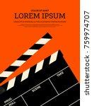 movie and film modern retro... | Shutterstock .eps vector #759974707