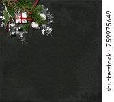 christmas background with fir... | Shutterstock . vector #759975649