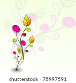 abstract colorful spring flower ... | Shutterstock .eps vector #75997591