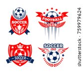 football sport club of soccer... | Shutterstock .eps vector #759979624