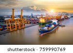 logistics and transportation of ... | Shutterstock . vector #759990769
