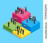 isometric business concept of... | Shutterstock . vector #759992095