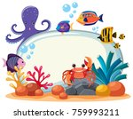 border template with many sea... | Shutterstock .eps vector #759993211