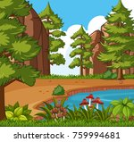 background scene with small... | Shutterstock .eps vector #759994681