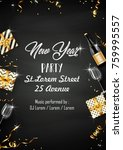vector illustration of new year ... | Shutterstock .eps vector #759995557