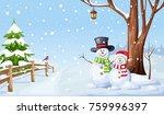 vector winter christmas... | Shutterstock .eps vector #759996397