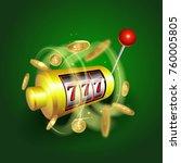 jackpot 777 wins in the casino. | Shutterstock .eps vector #760005805