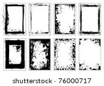 grunge black ink splat frame... | Shutterstock .eps vector #76000717