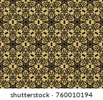 ethnic floral seamless pattern. ... | Shutterstock .eps vector #760010194