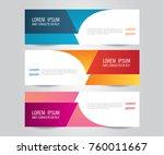 modern colorful banner template ... | Shutterstock .eps vector #760011667