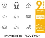 transport collection. expanded... | Shutterstock .eps vector #760013494